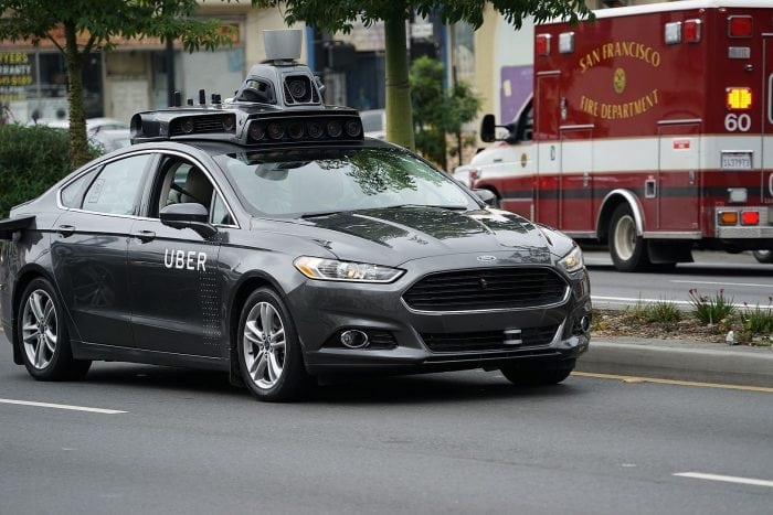 """Self driving Uber prototype in San Francisco"" by Dllu via Wikimedia Commons is licensed under the Creative Commons Attribution-Share Alike 4.0 International license."