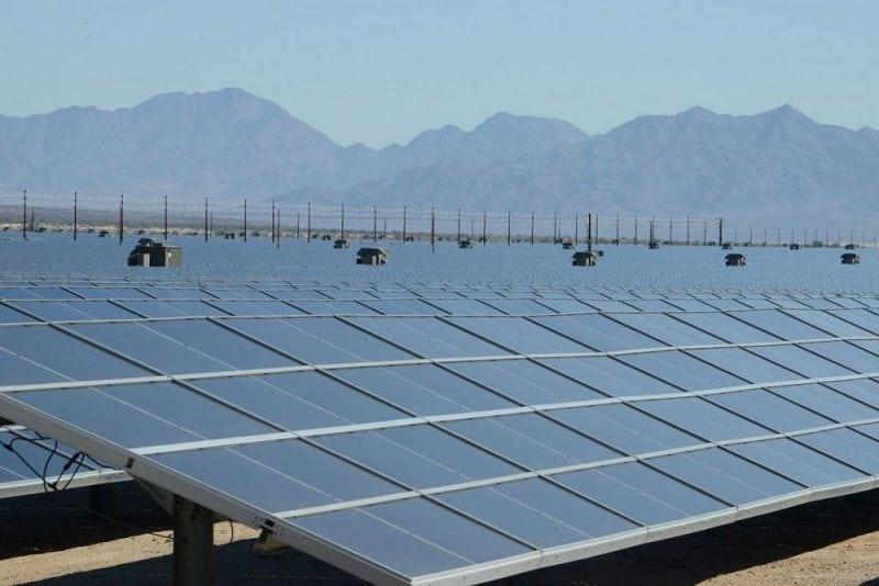 The Desert Sunlight solar farm near Desert Center, California. Photo Source: US Department of the Interior - flickr.com/people/42687493@N06, CC 2.0