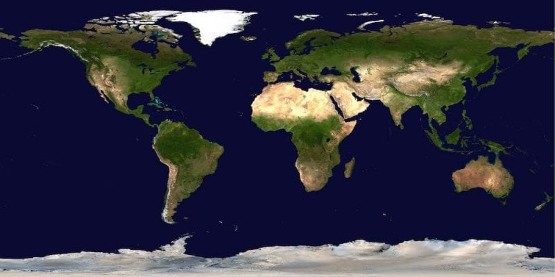 Satellite imagery of the world (Wikipedia)