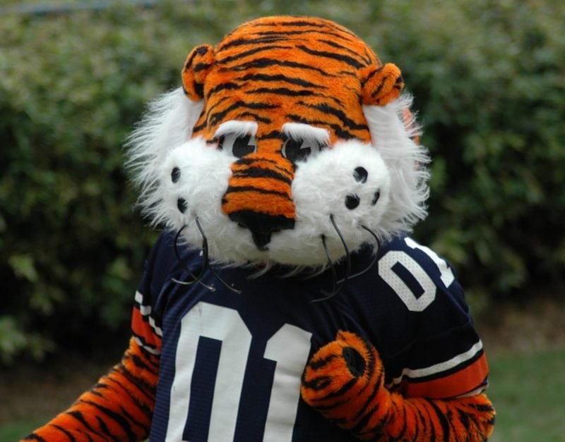 """Aubie"" (https://commons.wikimedia.org/wiki/File:Aubie-01.jpg) by JGlover (assumed) via Wikimedia Commons is licensed under the Creative Commons Attribution-Share Alike 2.5 Generic license. (https://creativecommons.org/licenses/by-sa/2.5/deed.en)"