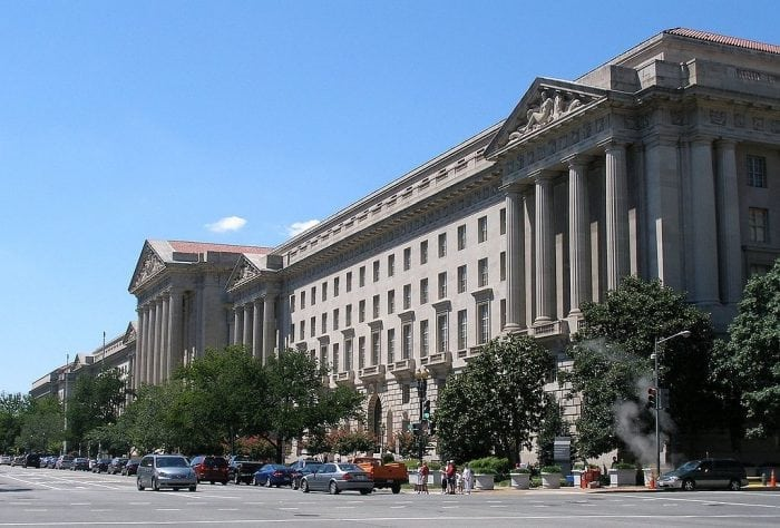 EPA headquarters in Washington, DC. (https://commons.wikimedia.org/wiki/File:Epaheadquarters.jpg) Photo: By Coolcaesar at English Wikipedia - Transferred from en.wikipedia to Commons., CC BY-SA 3.0, https://commons.wikimedia.org/w/index.php?curid=1407115