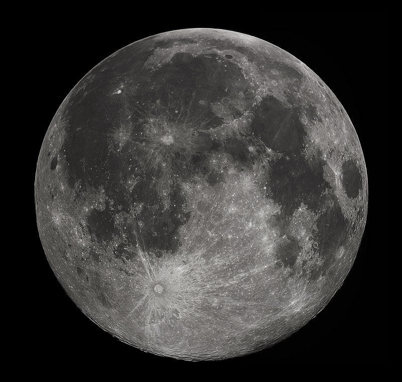 The Moon. Image from wikipedia.com