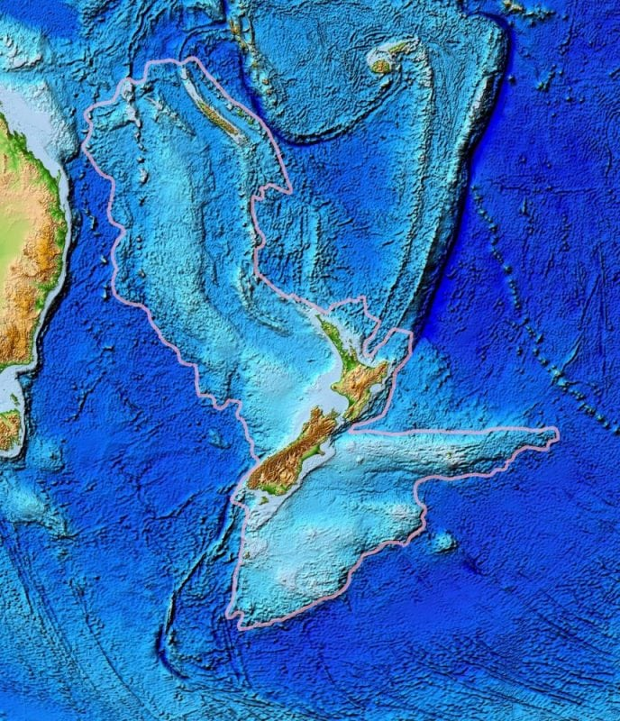Satelite topography of Zealandia (Wikipedia)