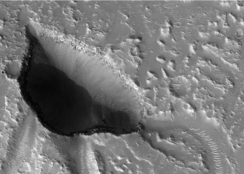 Hebrus Valles. Image by NASA/JPL-Caltech/Univ. of Arizona and is licensed under CC0