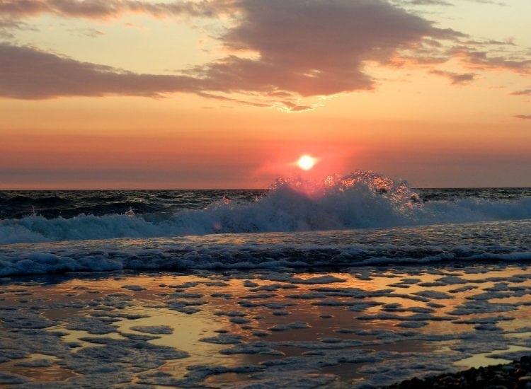 Ocean Sunset Seascape Surf Sunrise Wave Forward. Credit: MaxPixel