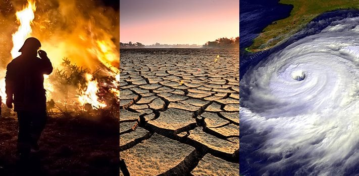 The many faces of climate change (NASA)