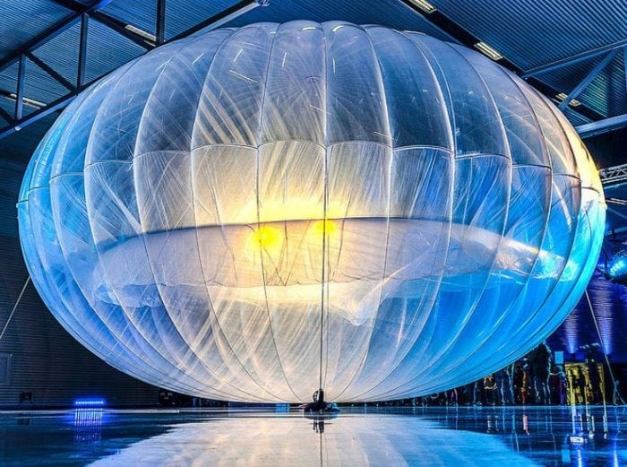 """Project Loon balloon"" by Doug Coldwell (via Flickr) is licensed under CC BY 2.0"