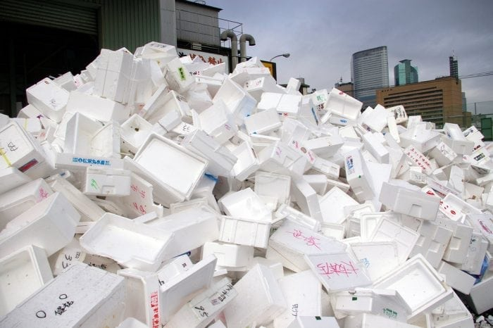 """Styrofoam Mountain"" by David Gilford (via Flickr) is licensed under CC BY 2.0"