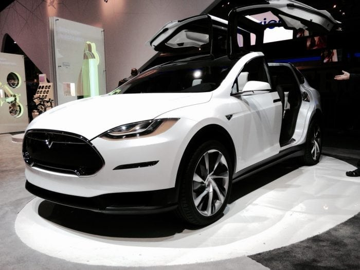"""Tesla Model X front view"" by Don McCullough (via Flickr) is licensed under CC BY 2.0"