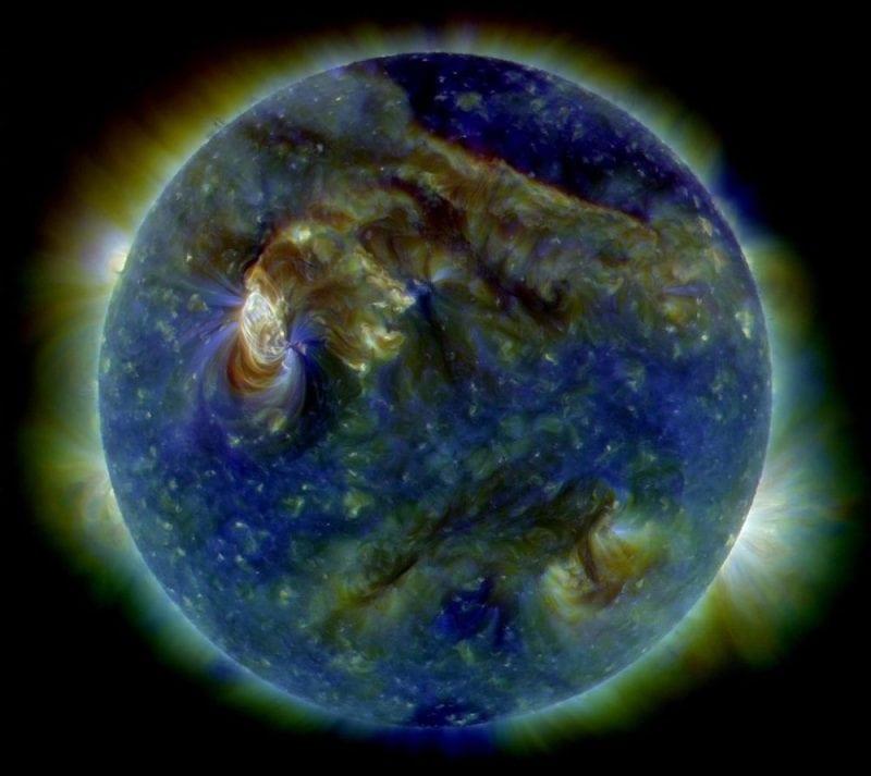 The sun viewed under false-color ultraviolet image. Credit: Wikipedia