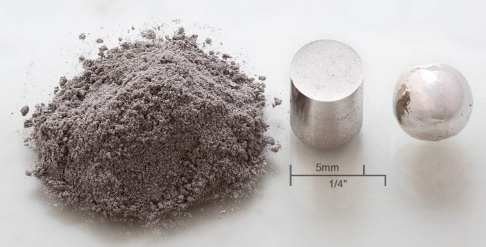 Photo:  Different forms of Rhodium (Wikipedia.org)