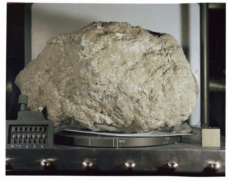 Lunar sample (Wikimedia Commons)