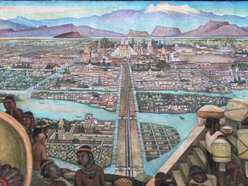 Rendering of Tenochtitlan (Credit: Wikimedia Commons)