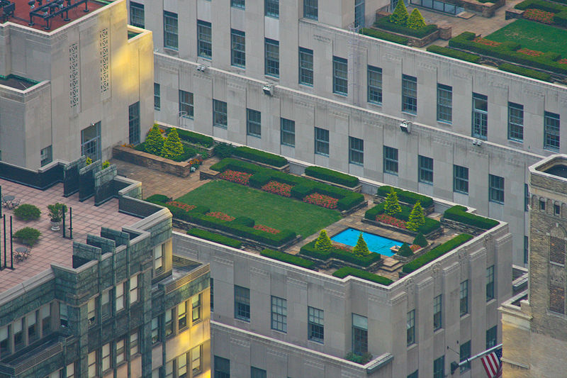 """30 Rockefeller Center rooftop"" by Jwilly77 (via Wikimedia Commons) is licensed under the  Creative Commons Attribution-Share Alike 3.0 Unported license"