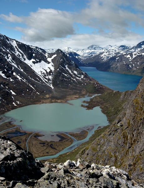 The mountainous region of Jotunheimen is on the border between the counties of Oppland and Sogn og Fjordane. Photo: Jack R. Johanson via Wikimedia Commons