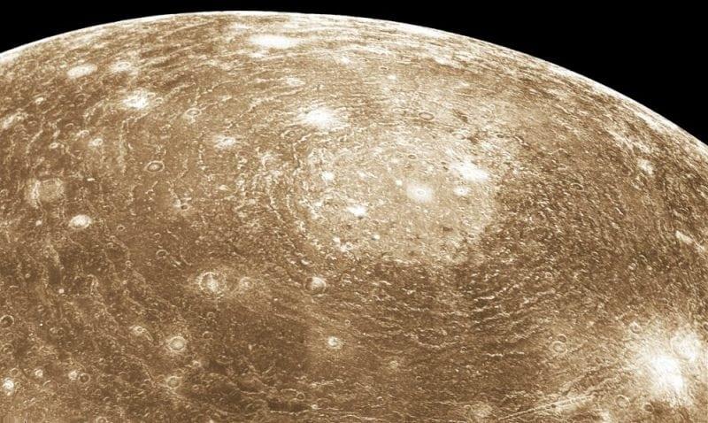 Jupiter's moon Callisto (Credit: Wikipedia)