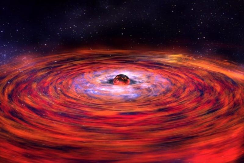 Illustration of a neutron star explosion by NASA