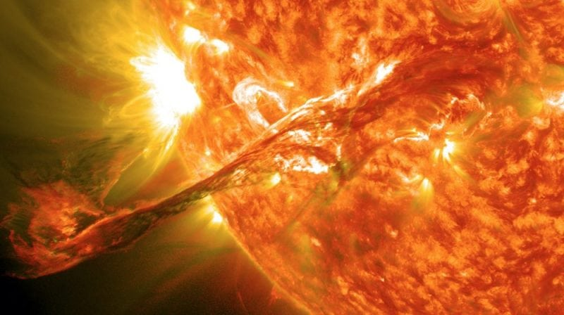 A solar flare seen from the Solar Dynamics Observatory (Credit: NASA)