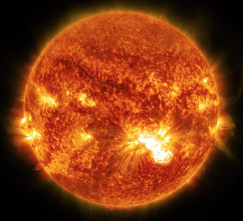 Sun Release X3.1-class Solar Flare on Oct. 24, 2014 (NASA)