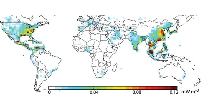 Contributions of nitrogen dioxide emissions (Credit: NASA)