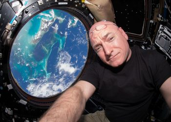 """""""ISS-44 Scott Kelly seen inside the Cupola"""" by NASA/Scott Kelly via Wikimedia Commons is licensed under CC0"""