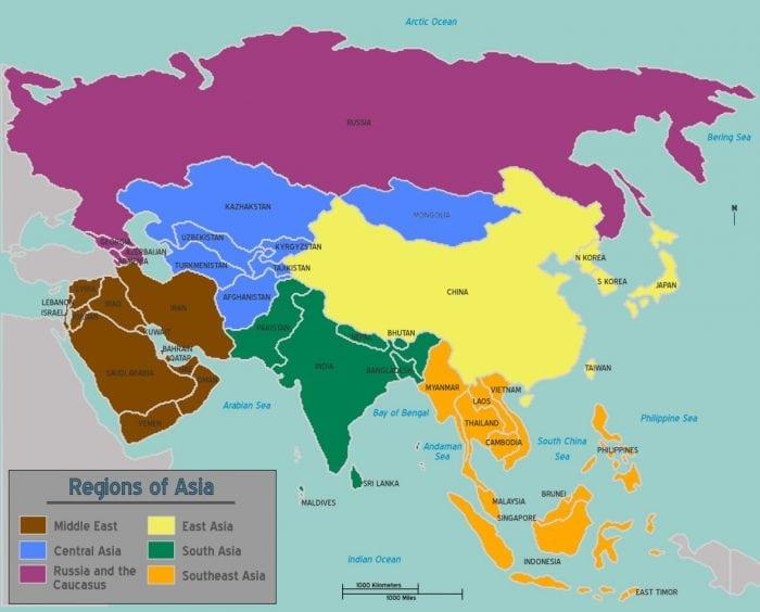 List Of Asian Countries And Capitals | Science Trends