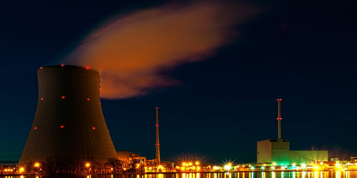 """""""Nuclear power plant Isar at night"""" by Bjoern Schwarz via Wikimedia Commons is licensed under the Creative Commons Attribution 2.0 Generic license."""