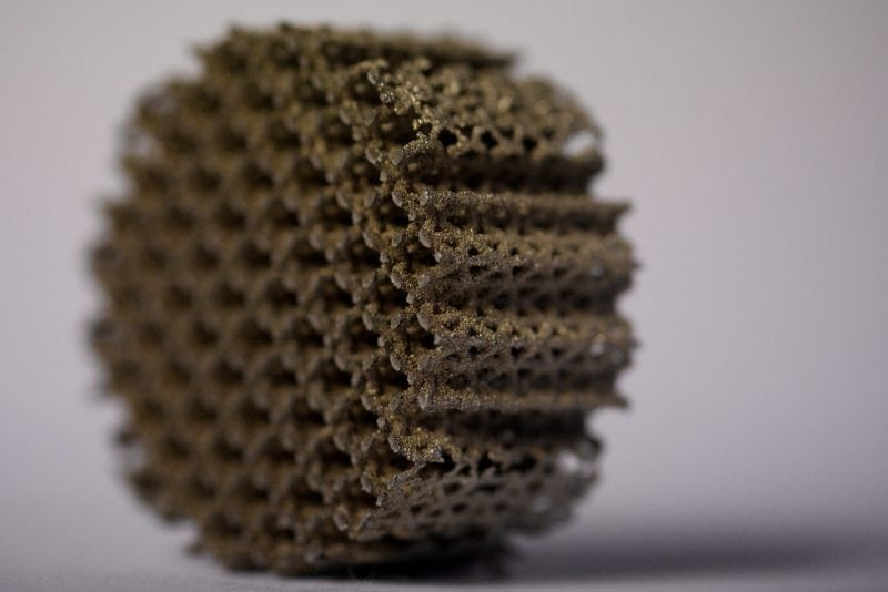 """Jonathan Harris: SLM Micro-lattice II"" by Engineering at Cambridge via Flickr is licensed under CC BY 2.0"