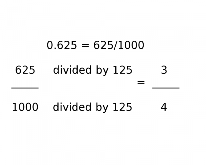 How To Calculate 0 625 As A Fraction P O My Own