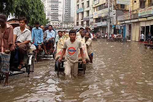 Bangladesh flood (Credit: Flickr / Masud Ananda)