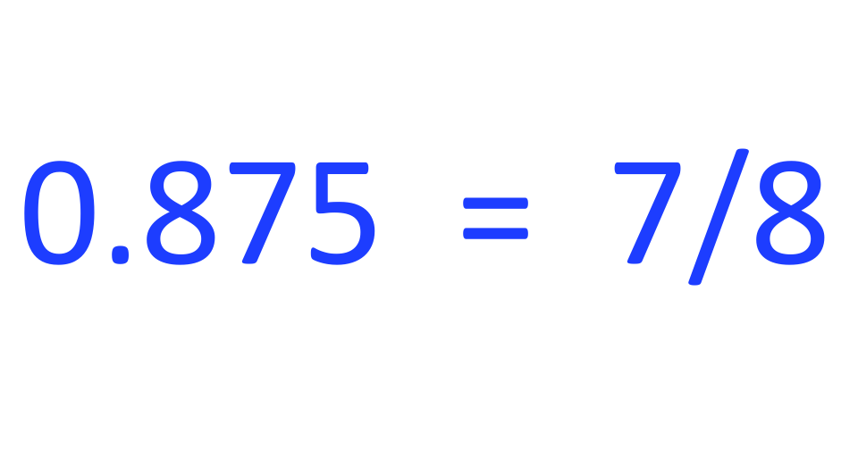 You Can Calculate 0 875 As A Fraction With Just A Few Steps Leading You To Its Simplest Form Will Give You The Fraction 7 8 Below We Will Cover How To