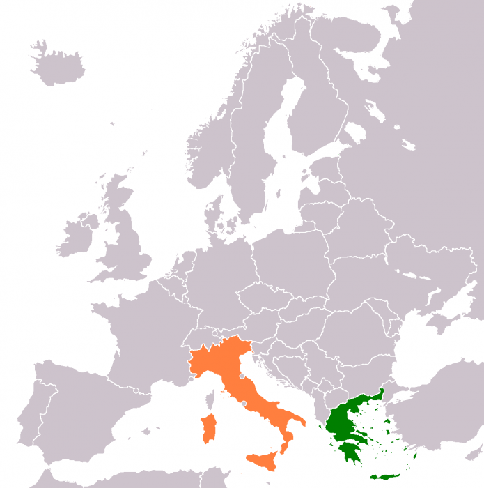 Map Of Italy And Greece | Science Trends