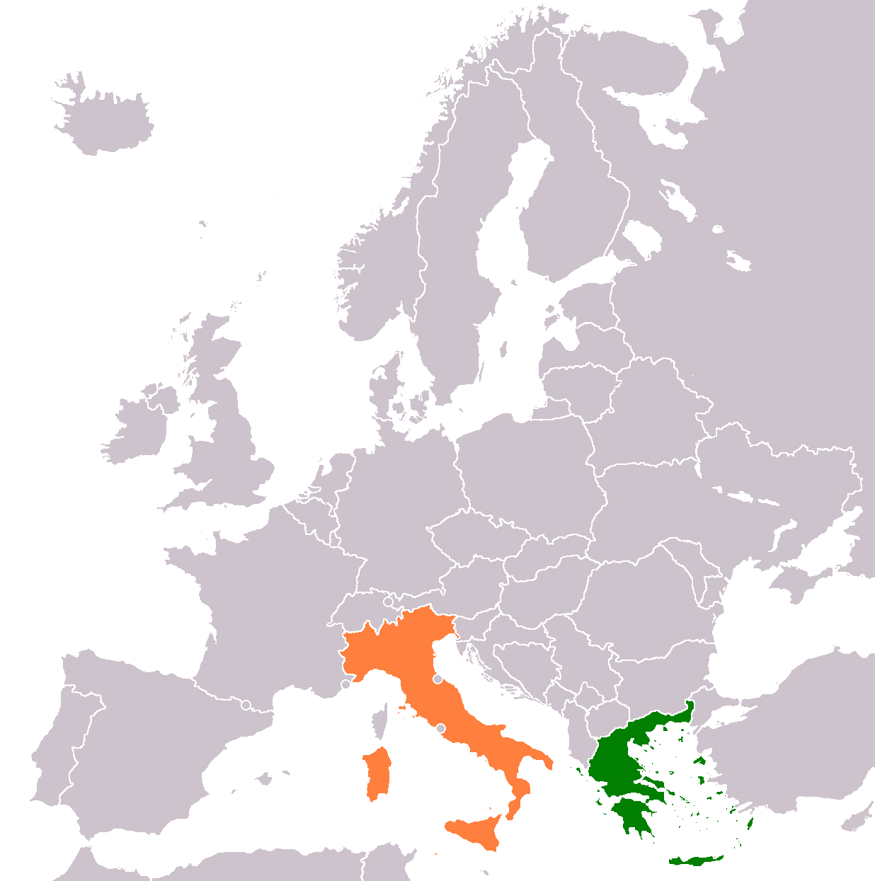 Map Of Italy And Greece Science Trends