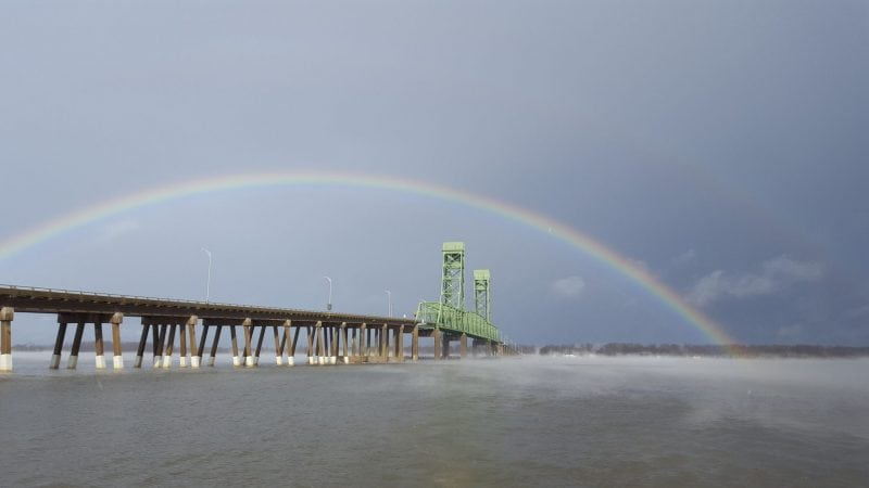 Rainbow over James River (Credit: Spencer Tassone)