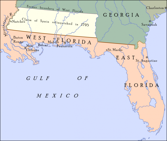 Map Of Florida Gulf Coast (Panhandle) | Science Trends