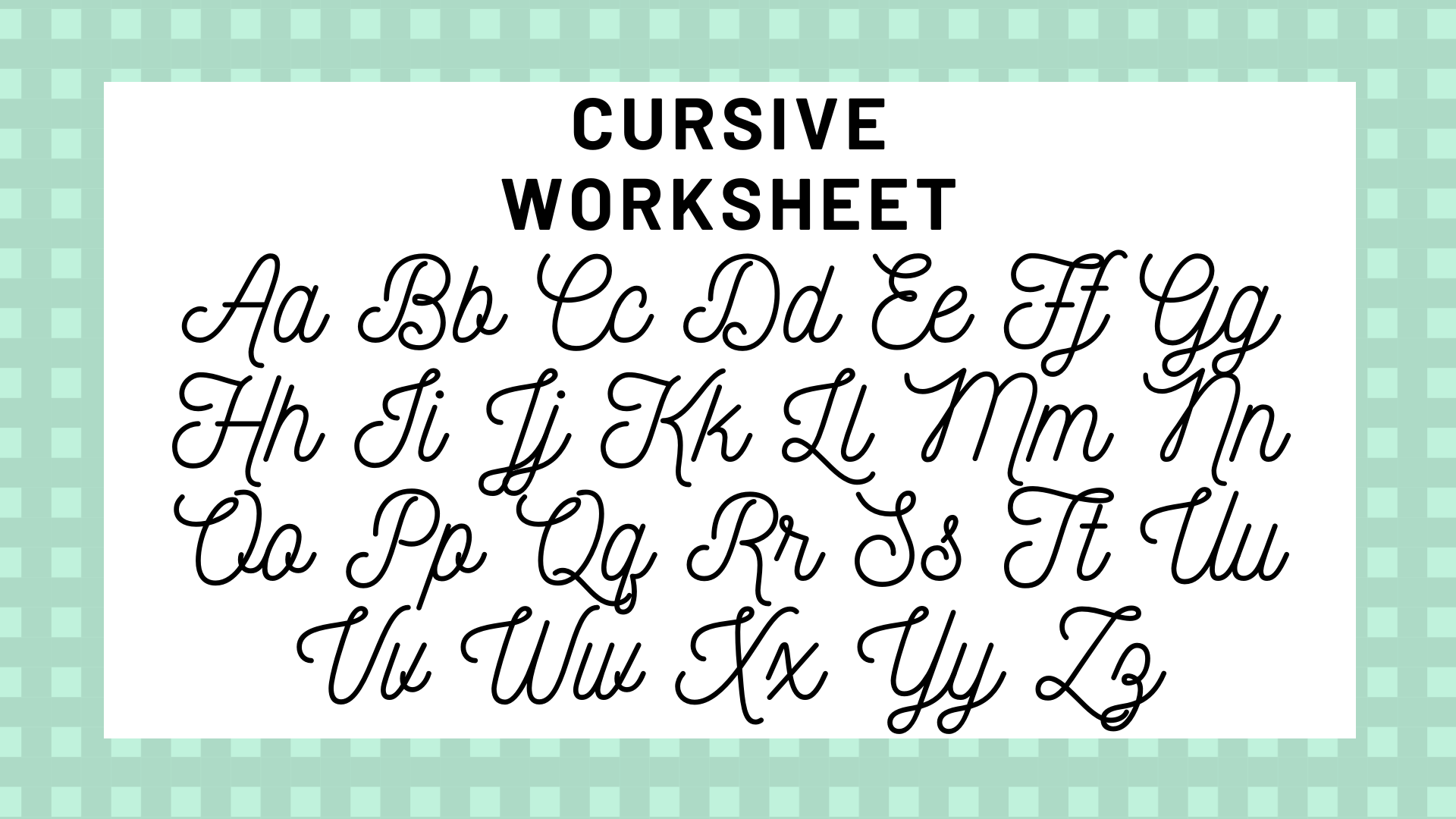 Cursive Alphabet Your Guide To Cursive Writing Science Trends Watch video tutorial, practice exercises, download free guidesheets. cursive alphabet your guide to cursive