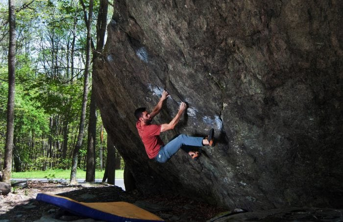 """Bouldering at Grayson Highlands"" by Virginia State Parks via Flickr is licensed under CC BY 2.0"