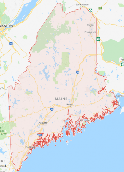 State Map Of Maine.Map Of The Maine Coast And Towns Science Trends