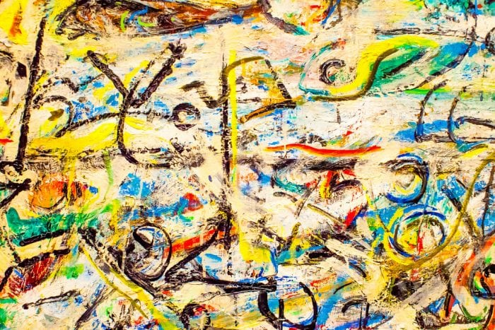 """A Jackson #Pollock painting"" by itsaykay via Flickr is licensed under CC0"