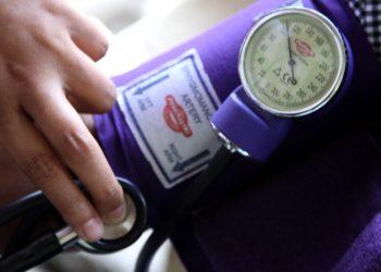 """Blood pressure measurement"" by Jesse K. Alwin, U.S. Marine Corps via Wikimedia Commons is licensed under CC0"