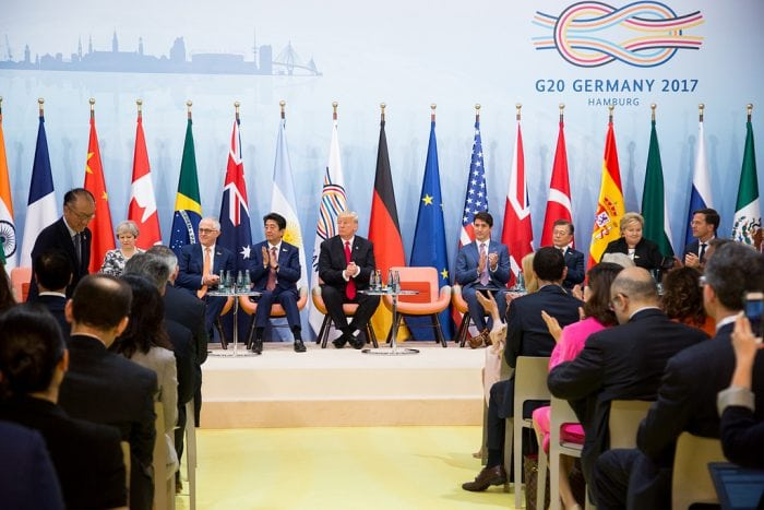 """""""President Trump's Trip to Germany and the G20 Summit"""" (Official White House Photo by Shealah Craighead) by The White House via Flickr is licensed under CC0"""