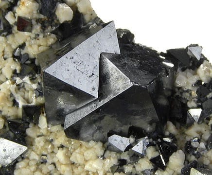 Magnetite. Image source: Wikimedia Commons.