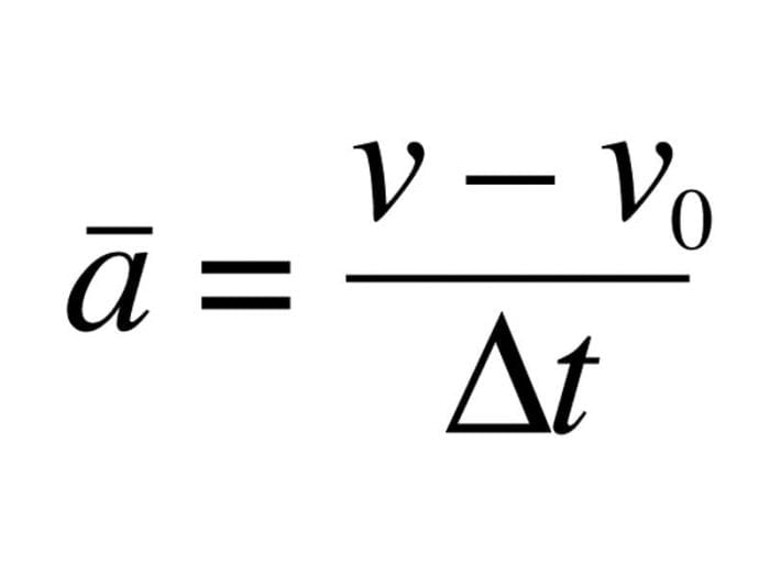 the acceleration formula equation in physics how to use it
