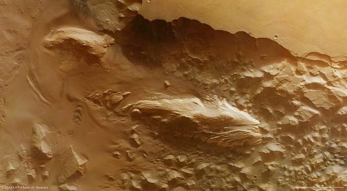 """Juventae Chasma"" by ESA/DLR/FU Berlin (via Flickr) is licensed under CC BY-SA 3.0 IGO"