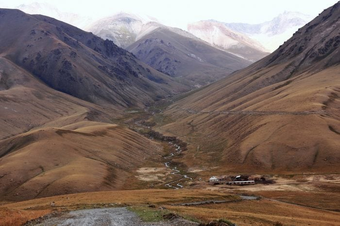 """""""Tian Shan mountains, Kyrgyzstan"""" by Thomas Depenbusch (Depi) via Flickr is licensed under CC BY 2.0"""