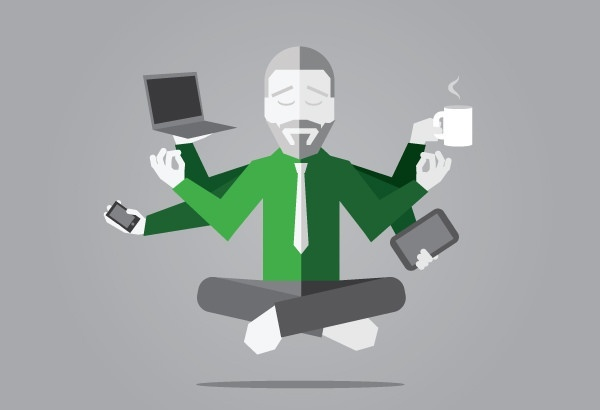 """""""A Multitasking Busy Guy"""" by www.uberoffices.com via Flickr is licensed under CC BY-SA 2.0"""