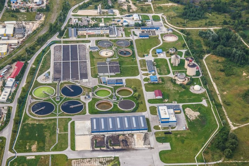 Wastewater treatment plant. Credit: Pixabay