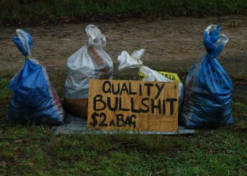 """Quality Bullshit"" by Doug Beckers via Flickr, is licensed under CC BY-SA 2.0"