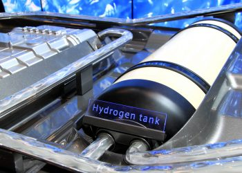 """Toyota hydrogen fuel cell at the 2014 New York International Auto Show""  by Joseph Brent via Flickr, is licensed under CC BY-SA 2.0"