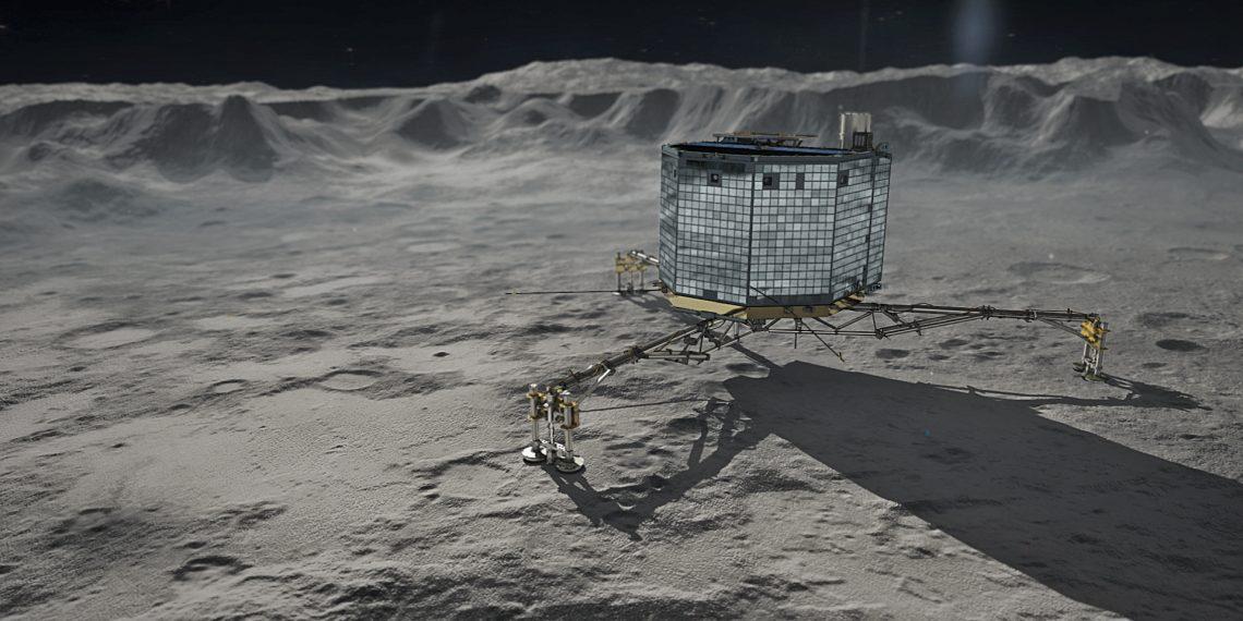 Rosetta's Philae on Comet 67P Churyumov-Gerasimenko. Credit: Wikimedia Commons